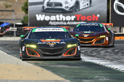IMSA WeatherTech SportsCar Championship<br /> AMERICA'S TIRE 250<br /> Mazda Raceway Laguna Seca<br /> Monterey, CA USA<br /> Sunday 24 September 2017<br /> 86, Acura, Acura NSX, GTD, Oswaldo Negri Jr., Jeff Segal, 93, Acura, Acura NSX, GTD, Andy Lally, Katherine Legge<br /> World Copyright: Richard Dole<br /> LAT Images<br /> ref: Digital Image DSC_4059