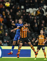 Bolton Wanderers' Gary O'Neil competing with Hull City's  Kevin Stewart<br /> <br /> Photographer Andrew Kearns/CameraSport<br /> <br /> The EFL Sky Bet Championship - Hull City v Bolton Wanderers - Tuesday 1st January 2019 - KC Stadium - Hull<br /> <br /> World Copyright © 2019 CameraSport. All rights reserved. 43 Linden Ave. Countesthorpe. Leicester. England. LE8 5PG - Tel: +44 (0) 116 277 4147 - admin@camerasport.com - www.camerasport.com
