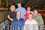 GREYHOUND FUN: Enjoying great fun at the Kingdom Greyhound Stadium on Saturday seated l-r: Tim O'Connell and Frank Moore. Back l-r: Trish Cunningham, Mark Moore, Bridget O'Connell and Tim (jnr) O'Connell, Luton, England and Oakview, Tralee.