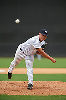 GCL Yankees East starting pitcher Luis Ojeda (3) delivers a pitch during the second game of a doubleheader against the GCL Blue Jays on July 24, 2017 at the Yankees Minor League Complex in Tampa, Florida.  GCL Yankees East defeated the GCL Blue Jays 7-3.  (Mike Janes/Four Seam Images)