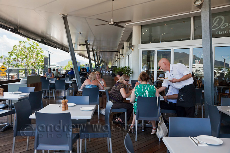 Diners at Donnini's Ciao Italia Restaurant.  The Pier, Cairns, Queensland, Australia