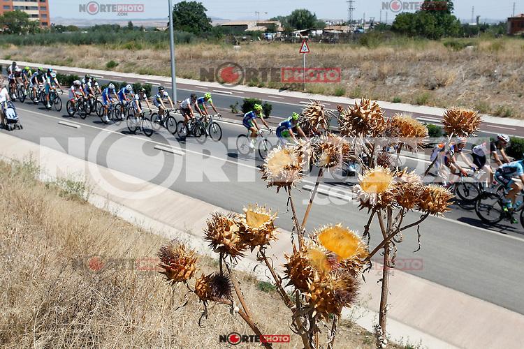 The peloton during the stage of La Vuelta 2012 between Logroño and Logroño.August 22,2012. (ALTERPHOTOS/Paola Otero) /NortePhoto.com<br /> <br /> **SOLO*VENTA*EN*MEXICO**<br /> **CREDITO*OBLIGATORIO**<br /> *No*Venta*A*Terceros*<br /> *No*Sale*So*third*<br /> *** No Se Permite Hacer Archivo**<br /> *No*Sale*So*third*