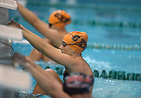 Dec 12, 2014; Commerce, CA, USA; Occidental swimming at the Collegiate Winter Invitational at the Brenda Villa Aquatic Center. Photo by Kirby Lee