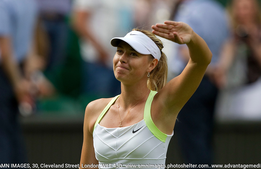 Maria Sharapova..Tennis - Grand Slam - The Championships Wimbledon - AELTC - The All England Club - London - Mon June 25th 2012. .© AMN Images, 30, Cleveland Street, London, W1T 4JD.Tel - +44 20 7907 6387.mfrey@advantagemedianet.com.www.amnimages.photoshelter.com.www.advantagemedianet.com.www.tennishead.net
