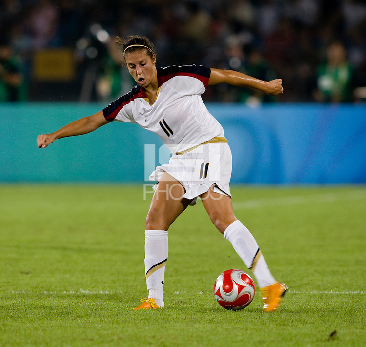 Carli Lloyd. The USWNT defeated Japan, 4-2, during the semi-finals of the Beijing 2008 Olympics in Beijing, China.