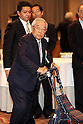 January 5, 2017, Tokyo, Japan - Former Toyota Motor honorary chairman Shoichiro Toyoda, father of Toyota president Akio Toyoda attends Japanese automobile industry associations' New Year party at a Tokyo hotel on Tuesday, January 5, 2017.  (Photo by Yoshio Tsunoda/AFLO)
