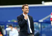 Full time, Scott Parker manager of Fulham walks off smiling during Queens Park Rangers vs Fulham, Sky Bet EFL Championship Football at the Kiyan Prince Foundation Stadium on 30th June 2020