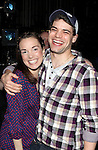 Kara Lindsay & Jeremy Jordan.attending the Actors' Equity Broadway Opening Night Gypsy Robe Ceremony for Aaron J. Albano in.'Newsies - The Musical' at the Nederlander Theatre in NewYork City on 3/29/2012