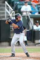 July 2, 2009: Mississippi Braves outfielder Wiilie Cabrera at Pringles Park in Jackson, TN. The Braves are the Southern League AA affiliate of the Atlanta Braves. Photo by: Chris Proctor/Four Seam Images