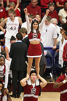 19 March 2007: Cheerleaders during Stanford's 68-61 second round loss to Florida State in the 2007 NCAA Division I Women's Basketball Championships at Maples Pavilion in Stanford, CA.