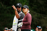 Annie Park (USA) talks to her caddie on the 18th tee during the ShopRite LPGA Classic presented by Acer, Seaview Bay Club, Galloway, New Jersey, USA. 6/10/18.<br /> Picture: Golffile | Brian Spurlock<br /> <br /> <br /> All photo usage must carry mandatory copyright credit (&copy; Golffile | Brian Spurlock)