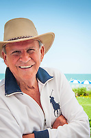 Bobby Rydell poses at La Playa Beach Resort along Gulf of Mexico in Naples, Florida, USA, June 13, 2011. Photo by Debi Pittman Wilkey