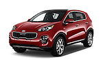 2017 KIA Sportage SXAWD 5 Door SUV Angular Front stock photos of front three quarter view