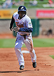 Reno Aces' Didi Gregorius runs the bases in a game against the Sacramento River Cats in Reno, Nev., on Sunday, April 14, 2013. The River Cats won 22-6..Photo by Cathleen Allison