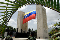 The Venezuelan flag is seen during a military parade in Caracas, Venezuela, on Wednesday, Jul. 05, 2006. The military parade was to celebrate the 195th anniversary of the Venezuelan Independence from Spain. (ALTERPHOTOS/Alvaro Hernandez)