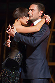 "Pictured: Vincent Simone and Flavia Cacace performing the Argentine Tango. TV's Strictly Come Dancing favourites Vincent Simone and Flavia Cacace bring their brand new show ""Dance 'Til Dawn"" to the West End for a limited 10 week run. The show features dances from the Golden Age of Hollywood and runs at the Aldwych Theatre to 3 January 2015. Photo credit: Bettina Strenske"