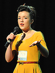 Annie Finnegan performing in the School Stars auditions in the TLT Drogheda. Photo: Colin Bell/pressphotos.ie
