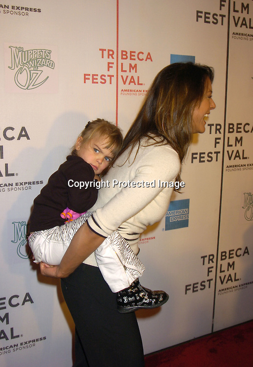 """Eva La Rue and daughter Kaya Callahan ..at the Tribeca Family Festival World Premiere of """"The Muppets'  Wizard of Oz"""" on April 27, 2005 at The Tribeca ..Performing Arts Center. ..Photo by Robin Platzer, Twin Images......"""