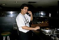 Le DJ Michel Cadoche<br />  dans les annees 80<br /> <br /> <br /> PHOTO : Stephane Fournier - Agence Quebec Presse
