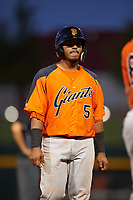 AZL Giants Orange Rodolfo Bone (5) during an Arizona League game against the AZL Cubs 1 on July 10, 2019 at Sloan Park in Mesa, Arizona. The AZL Giants Orange defeated the AZL Cubs 1 13-8. (Zachary Lucy/Four Seam Images)