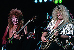Tony Franklin & John Sykes of BLUE MURDER Tony Franklin in costume for Halloween.