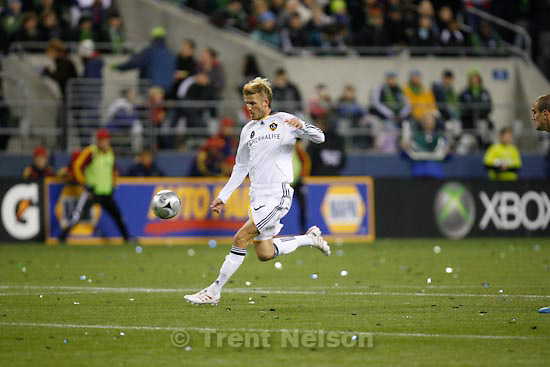 Trent Nelson  |  The Salt Lake Tribune.Real Salt Lake vs. LA Galaxy, MLS Cup Sunday, November 22 2009 at Qwest Field in Seattle. david beckham