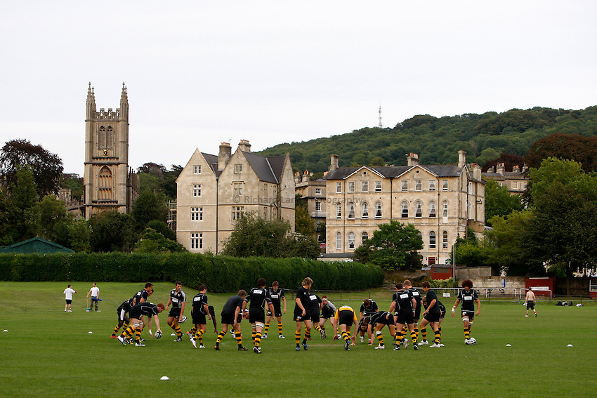 Photo: Richard Lane/Richard Lane Photography. Bath United v London Wasps A. Guinness A League. 07/09/2009. Wasps warm up.