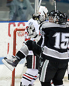 Ian O'Connor (Providence - 26), Kyle MacKinnon (Providence - 15) - The Northeastern University Huskies defeated the Providence College Friars 3-1 (EN) on Tuesday, January 19, 2010, at Matthews Arena in Boston, Massachusetts.