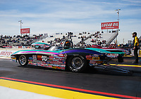 Feb 25, 2019; Chandler, AZ, USA; NHRA super gas driver Steve Williams during the Arizona Nationals at Wild Horse Pass Motorsports Park. Mandatory Credit: Mark J. Rebilas-USA TODAY Sports