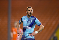 Paul Hayes of Wycombe Wanderers during the The Checkatrade Trophy match between Blackpool and Wycombe Wanderers at Bloomfield Road, Blackpool, England on 10 January 2017. Photo by Andy Rowland / PRiME Media Images.