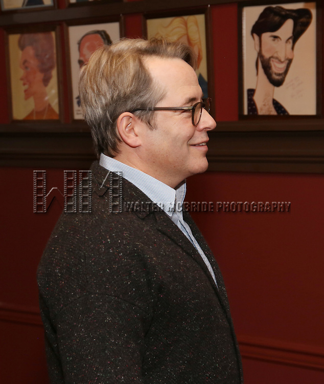 Matthew Broderick attends the unveiling of the Kenneth Lonergan caricature at Sardi's on February 17, 2017 in New York City.