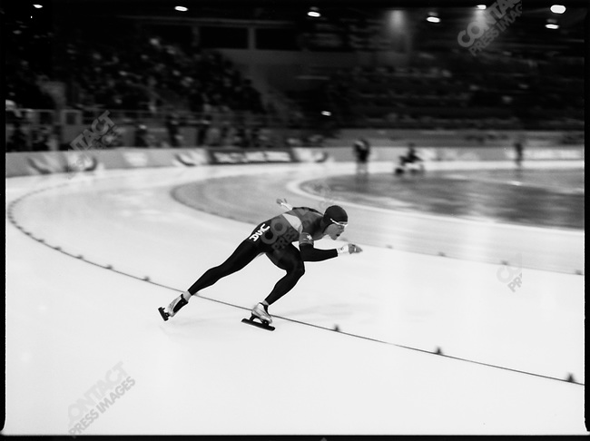 Speed Skating, Winter Olympics, Salt Lake City Utah, USA.  February 2002