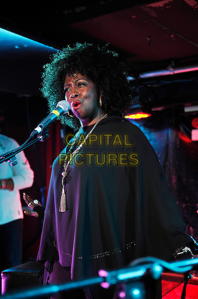 LONDON, ENGLAND - DECEMBER 20: Debbi Blackwell-Cook of 'Delta Deep' performing at 229 on December 20, 2015 in London, England.<br /> CAP/MAR<br /> &copy; Martin Harris/Capital Pictures