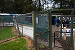 Nelson 3 Daisy Hill 6, 12/10/2019. Victoria Park, North West Counties League, First Division North. Spectators gathering outside the tea bar before Nelson hosted Daisy Hill at Victoria Park. Founded in 1881, the home club were members of the Football League from 1921-31 and has played at their current ground, known as Little Wembley, since 1971. The visitors won this fixture 6-3, watched by an attendance of 78. Photo by Colin McPherson.
