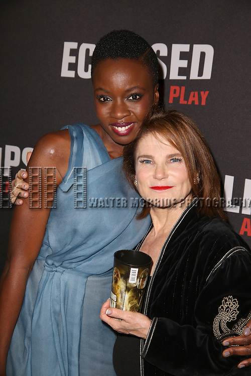 Danai Gurira, Tovah Feldshuh attends the 'Eclipsed' broadway opening night after party at Gotham Hall on March 6, 2016 in New York City.