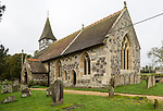 Historic village parish church of Saint Andrew, Wootton Rivers, Wiltshire, England, UK Vale of Pewsey