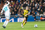 Borussia Dortmund Defender Marcel Schmelzer (R) in action during the Europe Champions League 2017-18 match between Real Madrid and Borussia Dortmund at Santiago Bernabeu Stadium on 06 December 2017 in Madrid Spain. Photo by Diego Gonzalez / Power Sport Images