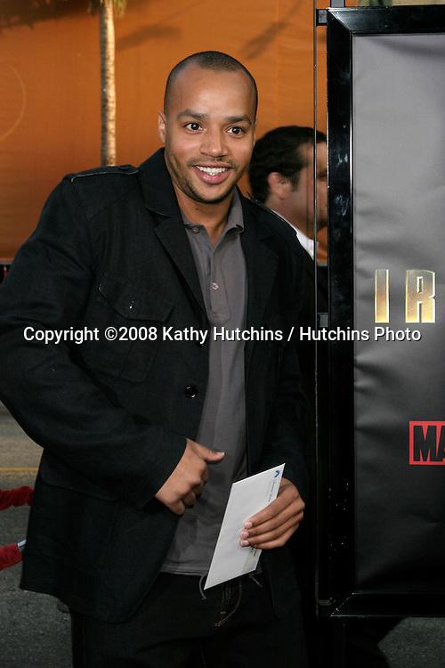 "Donald Faison.""ironman"" Premiere .Grauman's Chinese Theater.Los Angeles, CA.April 30, 2008.©2008 Kathy Hutchins / Hutchins Photo"