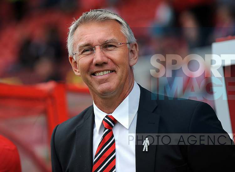 Sheffield United Manager Nigel Adkins<br /> - Sky Bet League One - Swindon Town vs Sheffield United - The County Ground - Swindon - England - 29th August 2015 <br /> --------------------