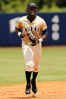 13 April 2008: Florida International center fielder Lammar Guy (42) runs off the field after the sixth inning of the Middle Tennessee 11-8 victory over FIU in 10 innings at University Park Stadium in Miami, Florida.