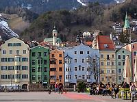 historische Fassaden in St.Nikolaus-Mariahilf, Innsbruck, Tirol, Österreich, Europa<br /> historical facades in St. Nikolaus-Mariahilf, Innsbruck, Tyrol, Austria, Europe