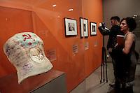 Il famoso busto con la falce ed il martello simbolo del comunismo<br /> Roma 18-03-2014 Scuderie del Quirinale. Inaugurazione vernissage della mostra dedicata a Frida Kahlo.<br /> Opening of the exhibition of Frida Kahlo.<br /> Photo Samantha Zucchi Insidefoto