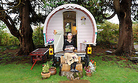 Marie O'Shea of Chez-Shea vintage glamping in Lauragh, Kenmare, County Kerry.<br /> Picture by Don MacMonagle