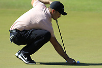 Tom Lewis (ENG) on the 3rd green during Saturday's Round 3 of the 2018 Turkish Airlines Open hosted by Regnum Carya Golf &amp; Spa Resort, Antalya, Turkey. 3rd November 2018.<br /> Picture: Eoin Clarke | Golffile<br /> <br /> <br /> All photos usage must carry mandatory copyright credit (&copy; Golffile | Eoin Clarke)