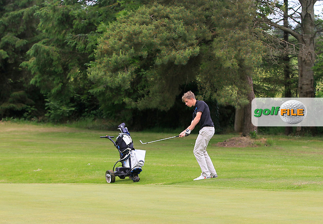 Benedict Cronin (Muskerry) chips onto the 6th green during Round 2 of the Irish Boys Amateur Open Championship at Tuam Golf Club on Wednesday 24th June 2015.<br /> Picture:  Thos Caffrey / www.golffile.ie
