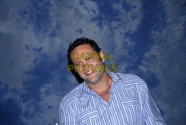 VINCE VAUGHN.March 2005.headshot portrait blue striped shirt chest hair.www.capitalpictures.com.sales@capitalpictures.com.© Capital Pictures.