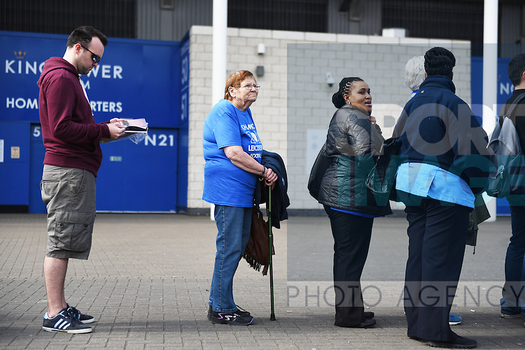 Leicester city fans queue for the new Leicester City Kit  at the King Power Stadium Leicester. Photo credit should read: Nathan Stirk/Sportimage<br /> <br /> <br /> <br /> <br /> <br /> <br /> <br /> <br /> <br /> <br /> <br /> <br /> <br /> <br /> <br /> <br /> <br /> <br /> <br /> <br /> <br /> <br /> <br /> <br /> <br /> <br /> <br /> <br /> <br /> <br /> <br /> - Newcastle Utd vs Tottenham - St James' Park Stadium - Newcastle Upon Tyne - England - 19th April 2015 - Picture Phil Oldham/Sportimage