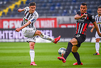 v.l. Roland Sallai (SC Freiburg), Filip Kostic (Eintracht Frankfurt) - 26.05.2020 Fussball 1.Bundesliga Spieltag 28, Eintracht Frankfurt  - SC Freiburg emspor, <br /> <br /> Foto: Jan Huebner/Pool/ Via Marc Schueler/Sportpics.de<br /> (DFL/DFB REGULATIONS PROHIBIT ANY USE OF PHOTOGRAPHS as IMAGE SEQUENCES and/or QUASI-VIDEO), Editorial use only. National and International News Agencies OUT