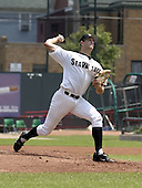 July 29, 2004:  Former first round draft pick, third overall, Kyle Sleeth of the Erie Seawolves, Eastern League (AA) affiliate of the Detroit Tigers, during a game at Jerry Uht Park in Erie, PA.  Photo by:  Mike Janes/Four Seam Images