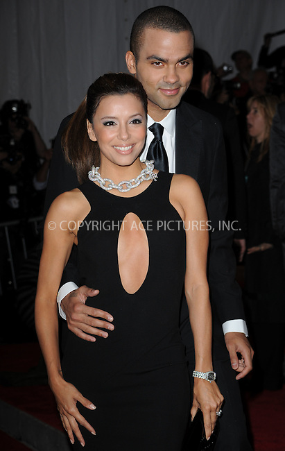 WWW.ACEPIXS.COM . . . . . ....May 4 2009, New York City....Actress Eva Longoria and Tony Parker arriving at 'The Model as Muse: Embodying Fashion' Costume Institute Gala at The Metropolitan Museum of Art on May 4, 2009 in New York City.....Please byline: KRISTIN CALLAHAN - ACEPIXS.COM.. . . . . . ..Ace Pictures, Inc:  ..tel: (212) 243 8787 or (646) 769 0430..e-mail: info@acepixs.com..web: http://www.acepixs.com